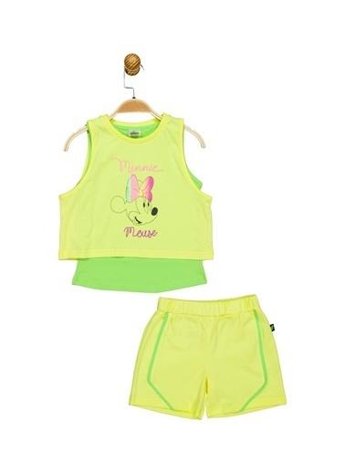 Minnie Mouse Lisanslı Çocuk Takım 17467 Sarı
